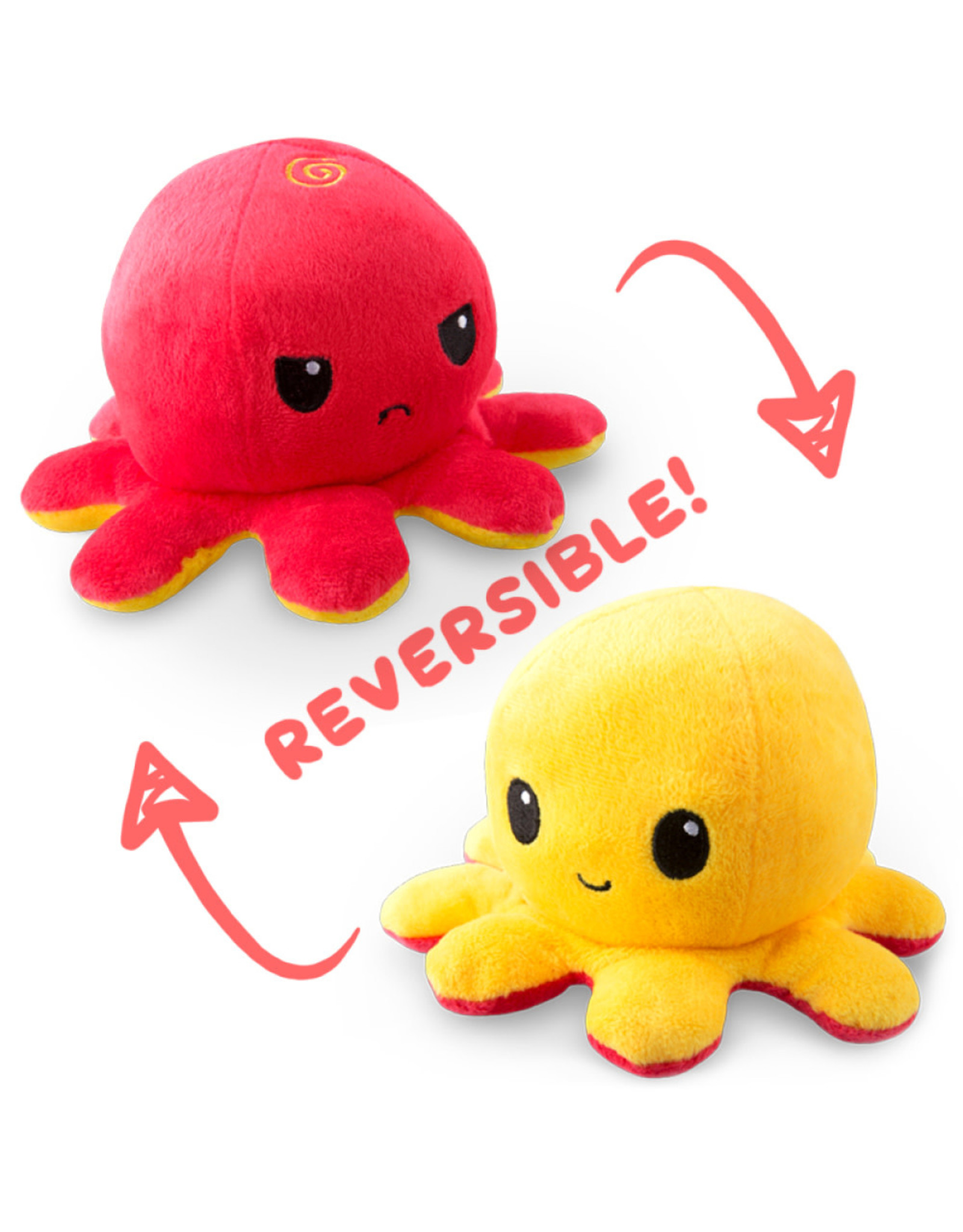Reversible Octopus Mini - Red/Yellow
