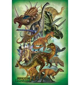 Eurographics Herbivores Dinosaur - Poster