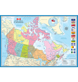 Eurographics Map of Canada - Poster