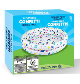 Incredible Novelties Confetti 2 Ring Inflatable Pool