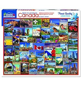 White Mountain Puzzles Best Places in Canada 1000 pc