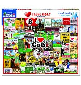 White Mountain Puzzles I Love Golf 1000 pc