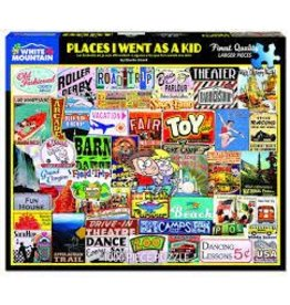 White Mountain Puzzles Places I Went As a Kid 1000 pc