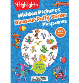 Highlights Hidden Pictures Dinosaur Puffy Sticker Playscenes