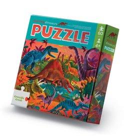 Crocodile Creek Dazzling Dinosaurs 60 pc Foil Puzzle