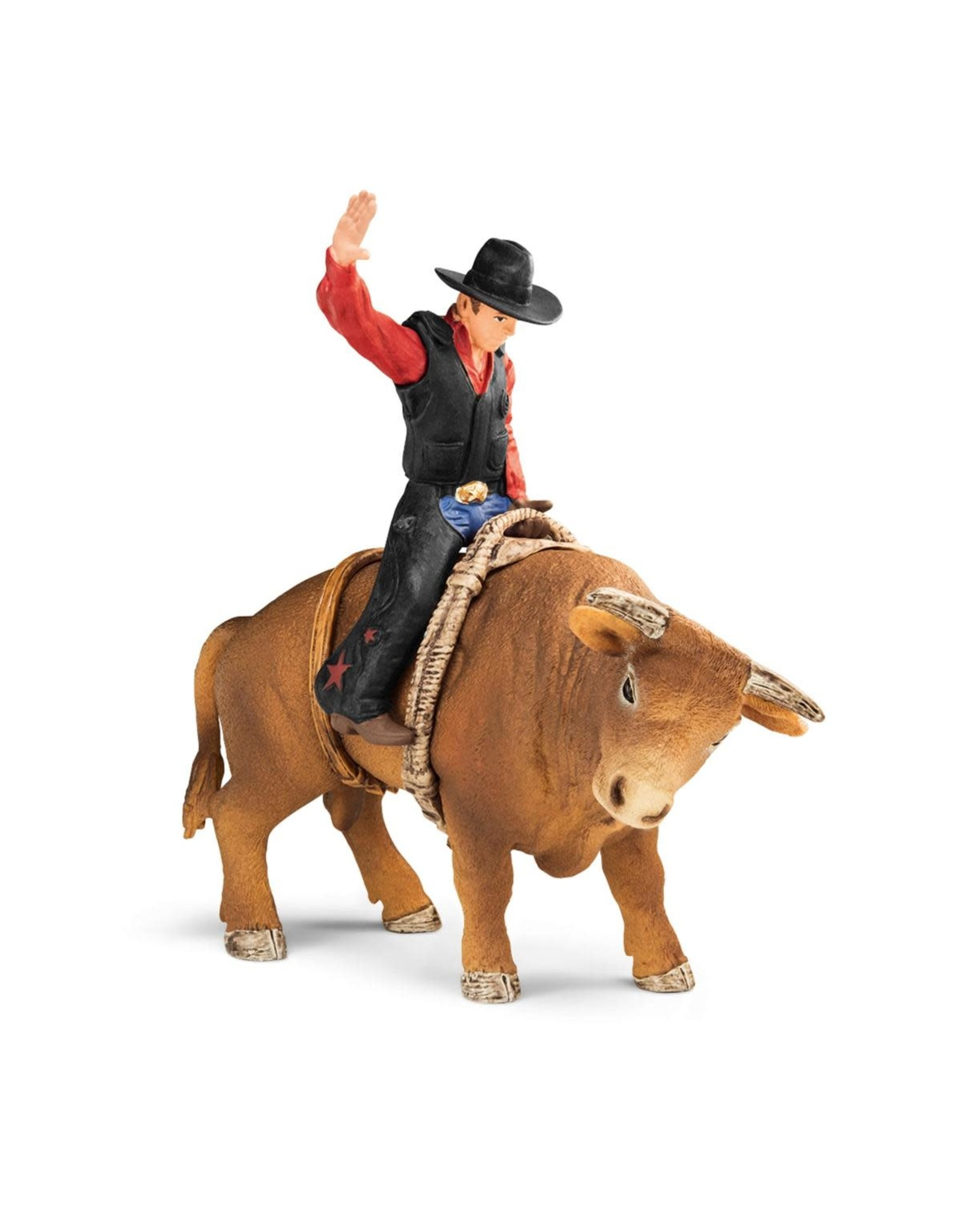 Schleich Cowboy with Bull