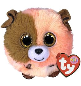 Ty TY Puffies - Mandarin Orange/Brown Dog