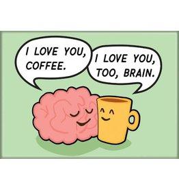 WTIA Love You Coffee Flat Magnet