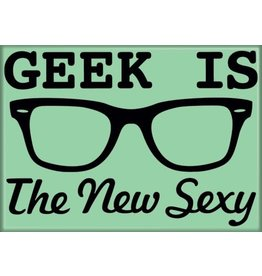 Snorgtees Geek is The New Sexy Flat Magnet