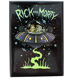 Rick & Morty Space Ship Flat Magnet