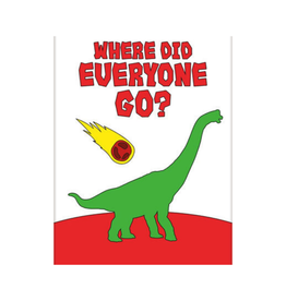 NMR Dinosaurs - Where Did Everyone Go Flat Magnet