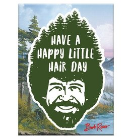 NMR Bob Ross - Happy Hair Day Flat Magnet