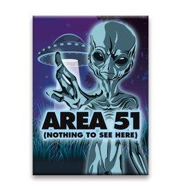 NMR Aliens - Area 51 Flat Magnet