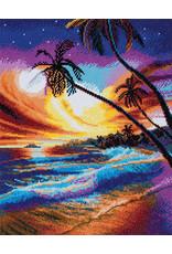 D.I.Y Crystal Art Kit Crystal Art Large Framed Kit - Tropical Beach