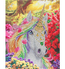 D.I.Y Crystal Art Kit Crystal Art Large Framed Kit - Unicorn Forest