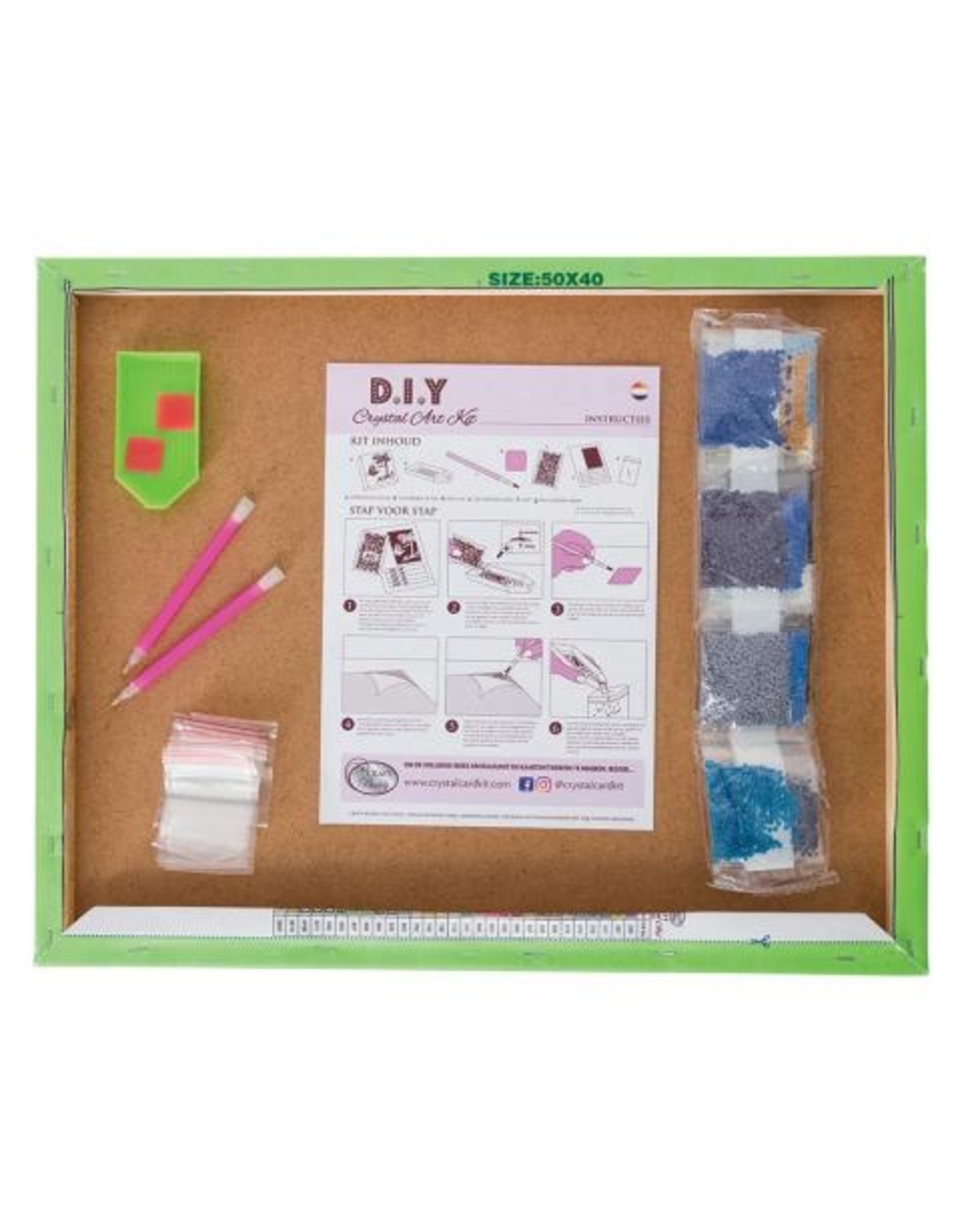 D.I.Y Crystal Art Kit Crystal Art Large Framed Kit - Once Upon A Time