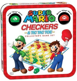 USAopoly Super Mario Checkers & Tic Tac Toe Collector's Game Set
