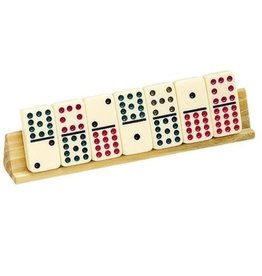 Set of 2 Wooden Dominos Tile Holders
