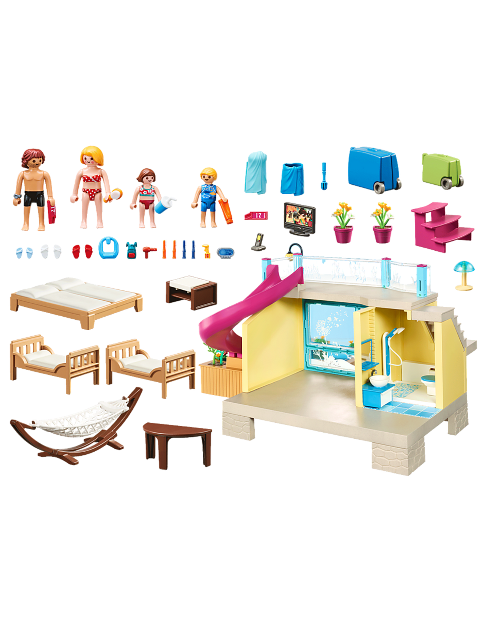 Playmobil Bungalow with Pool