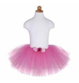 Great Pretenders Dark Pink Rose Tutu, Size 12-24 mo.