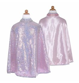 Great Pretenders Silver Sequins Cape, Size 3/4
