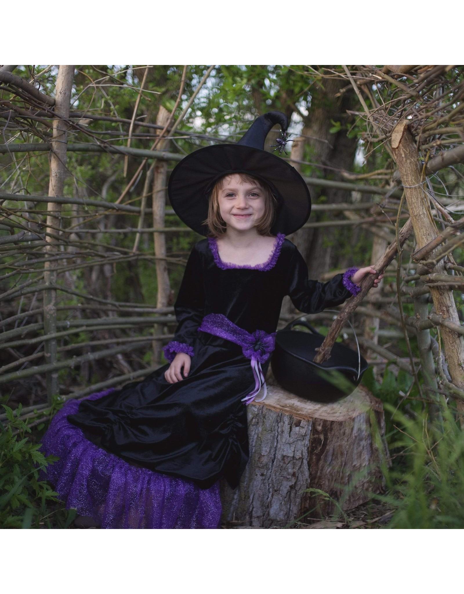 Great Pretenders Vera the Velvet Witch Dress & Hat, Size 3/4