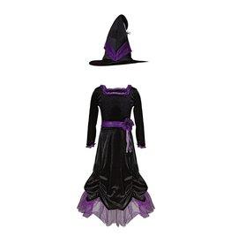Great Pretenders Vera the Velvet Witch Dress & Hat, Size 5/6