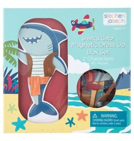 Stephen Joseph Magnetic Dress Up Doll - Shark & Gator