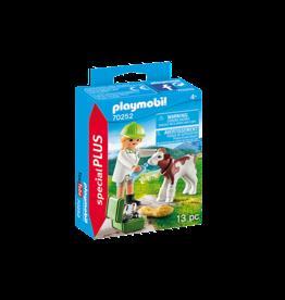 Playmobil Vet with Calf