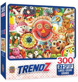 Master Pieces Trendz - Funny Face Food 300 pc EZGrip Puzzle