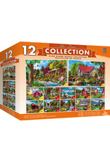 Master Pieces Alan Giana Collection - Garden & Country Scenes 12 Pack Jigsaw Puzzles