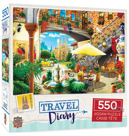 Master Pieces Travel Diary - Barcelona 550 pc Puzzle