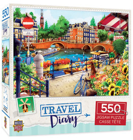 Master Pieces Travel Diary - Amsterdam 550 pc Puzzle