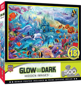 Master Pieces Hidden Images Glow In The Dark - Sea Castle Delight 500 pc Puzzle