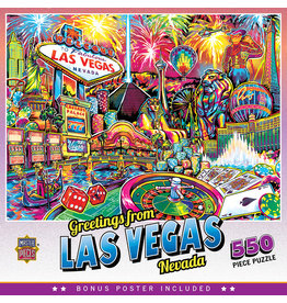 Master Pieces Travel Collages - Las Vegas 550 pc Puzzle