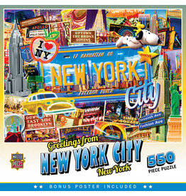 Master Pieces Travel Collages - New York City 550 pc Puzzle