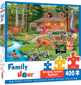 Master Pieces Family Time - Creekside Gathering 400 pc Puzzle