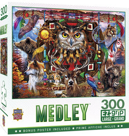 Master Pieces Medley - Animal Totems 300 pc EZGrip Puzzle