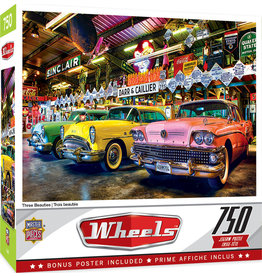 Master Pieces Wheels - Three Beauties 750 pc Puzzle