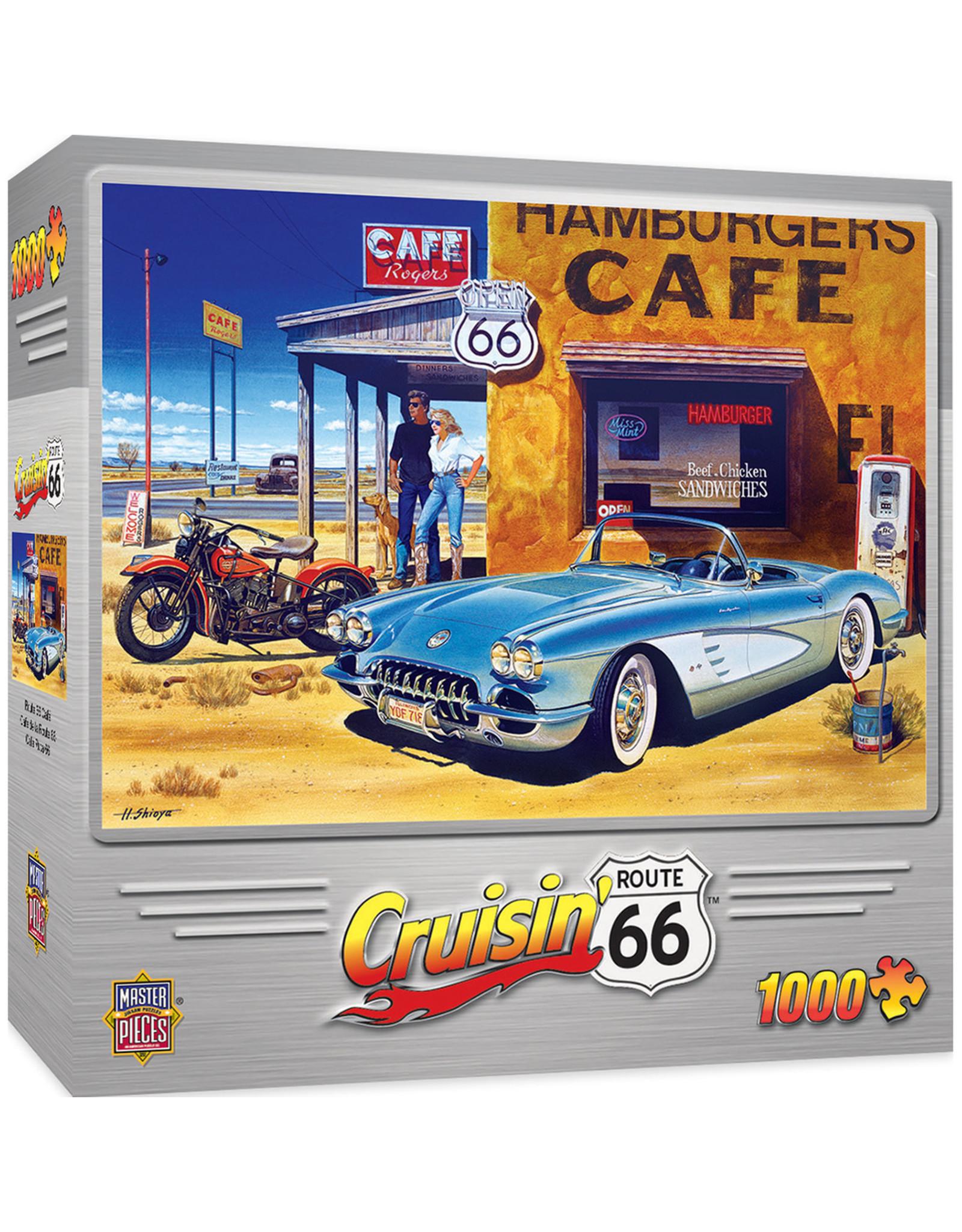 Master Pieces Cruisin' Rt66 - Route 66 Café 1000 pc Puzzle