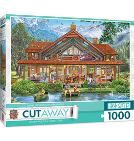 Master Pieces Cut-Aways - Camping Lodge 1000 pc EZGrip Puzzle