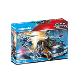 Playmobil Helicopter Pursuit with Runaway Van