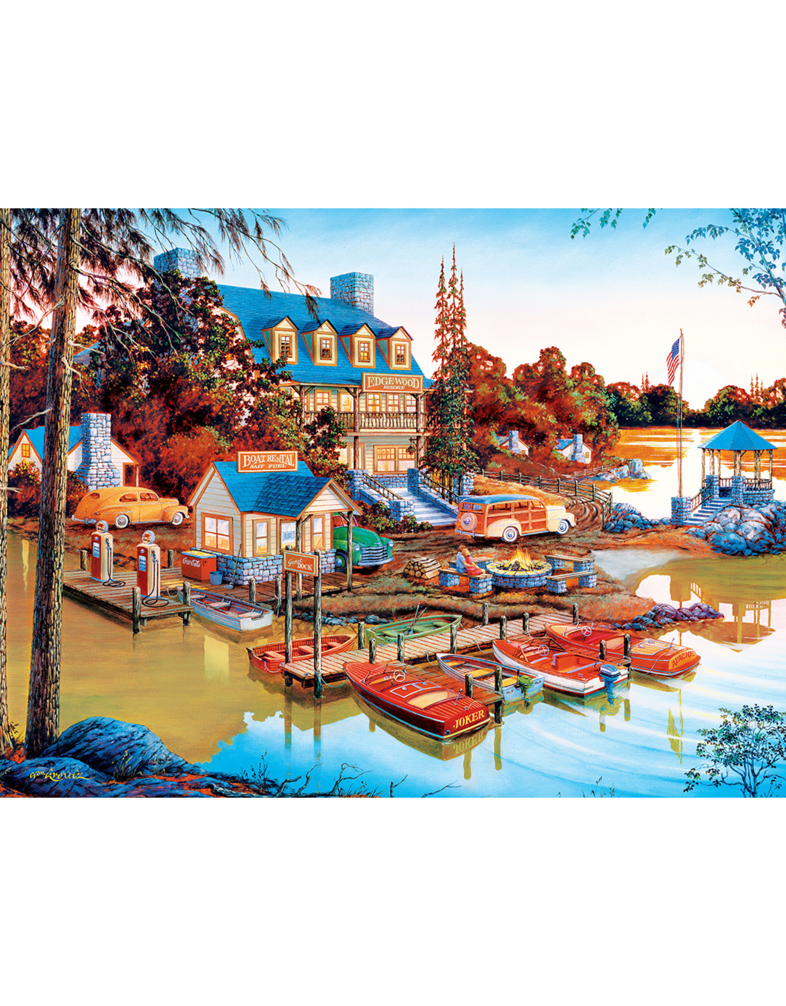 Master Pieces Country Escapes - Peaceful Easy Evening 550 pc Puzzle