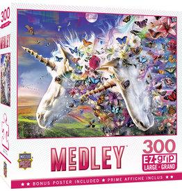 Master Pieces Medley - Unicorns & Butterflies EZGrip 300 pc