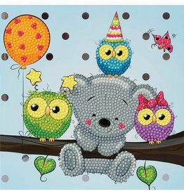 D.I.Y Crystal Art Kit Crystal Art Card Kit - Birthday Friends