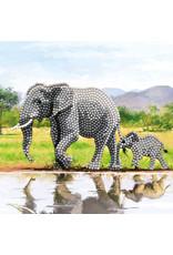 D.I.Y Crystal Art Kit Crystal Art Card Kit - Elephant