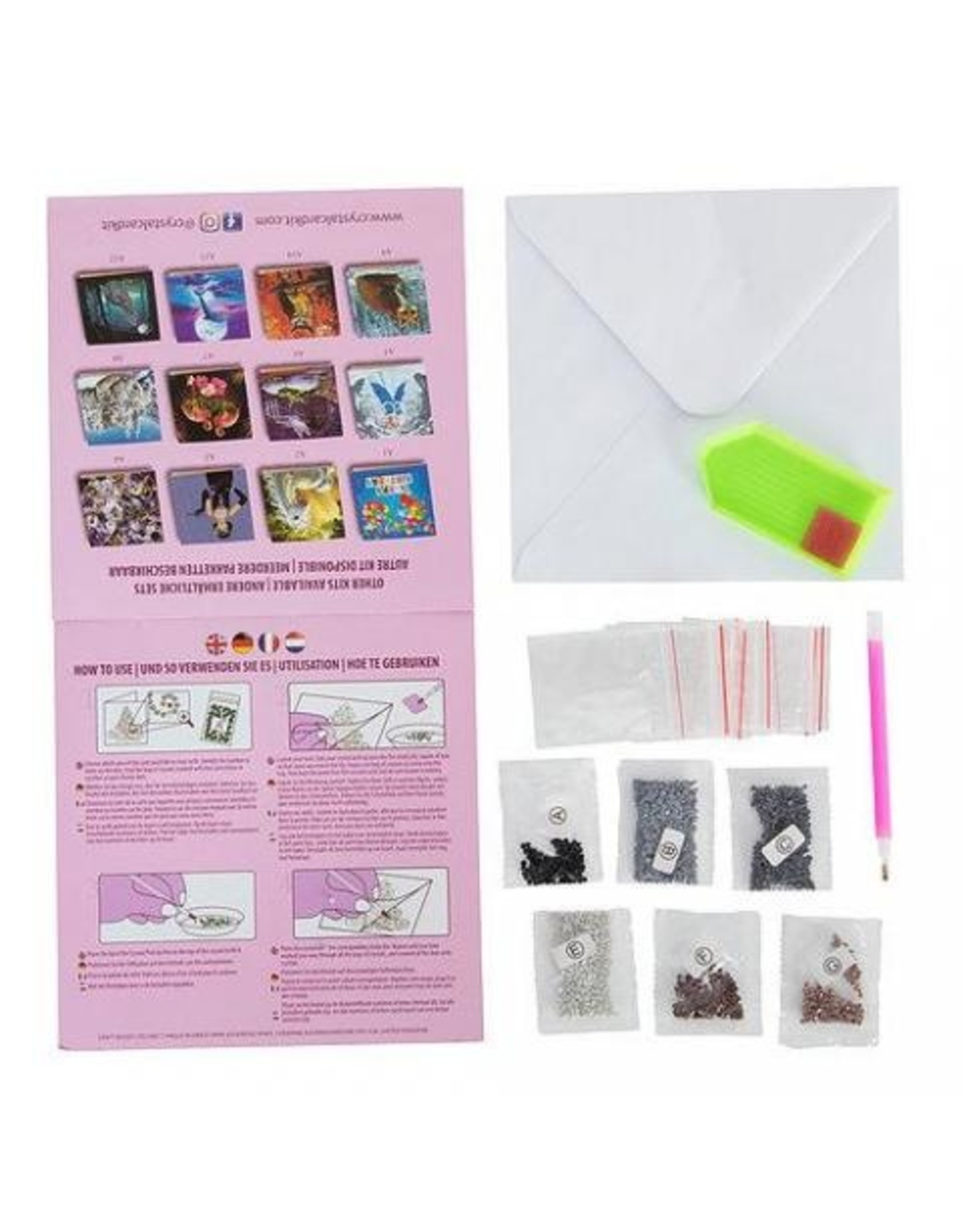 D.I.Y Crystal Art Kit Crystal Art Card Kit - Cat Friends