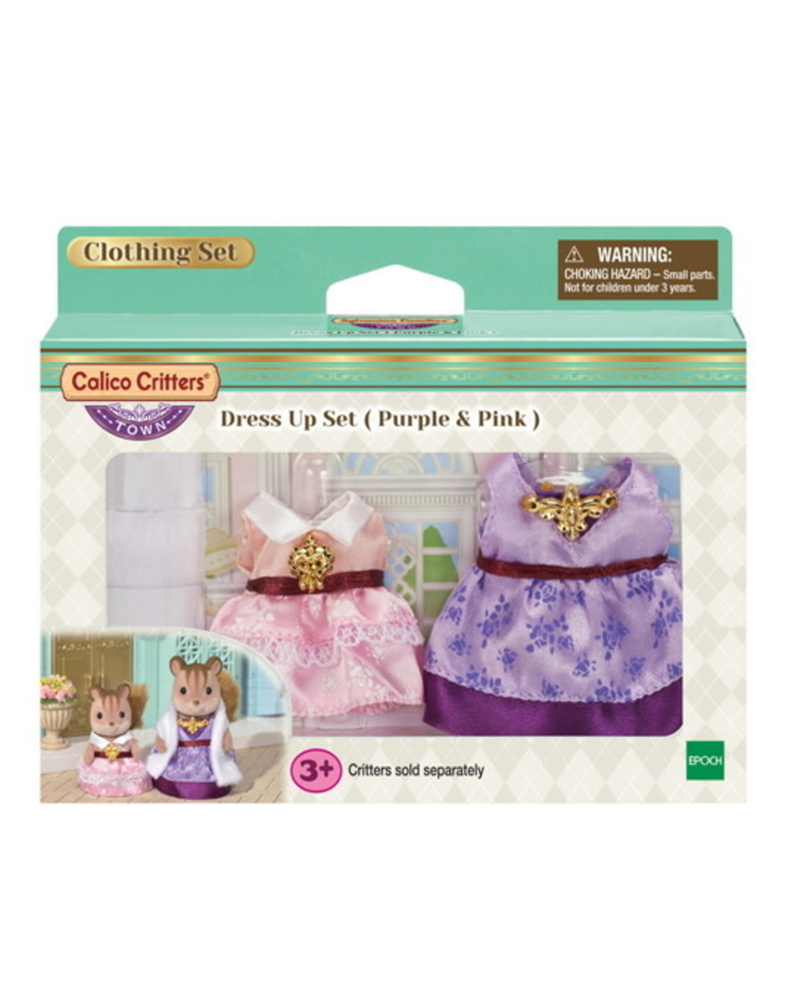Calico Critters Calico Critters Dress Up Purple and Pink