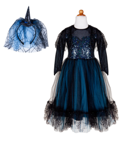 Great Pretenders Luna The Midnight Witch Dress with Headband, Size 7/8