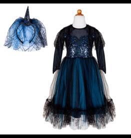 Great Pretenders Luna The Midnight Witch Dress & Headband, Size 5/6